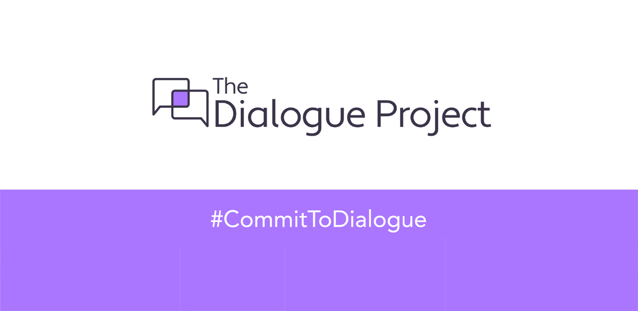 logo and hashtag for The Dialogue Project